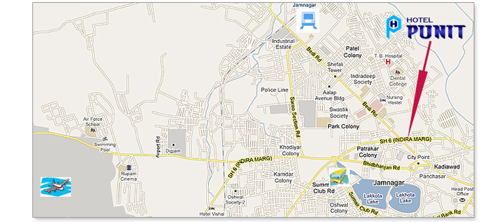 Hotel Punit Map